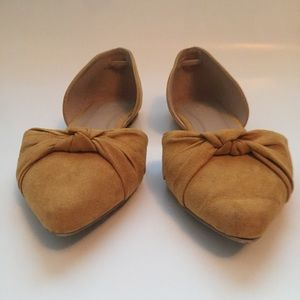 D'orsay Pointed Toe Ballet Flats Mustard Size 8